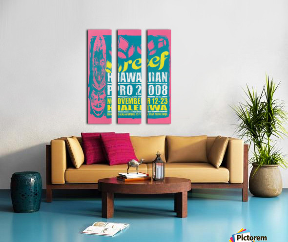 2008 REEF HAWAIIAN PRO Surf Competition Poster Split Canvas print