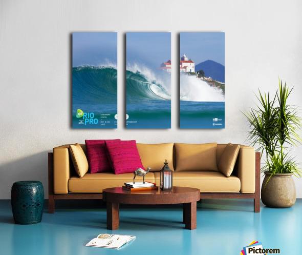 2017 RIO PRO Surf Competition Print Split Canvas print