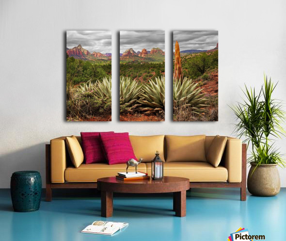 Storm over Sedona Split Canvas print