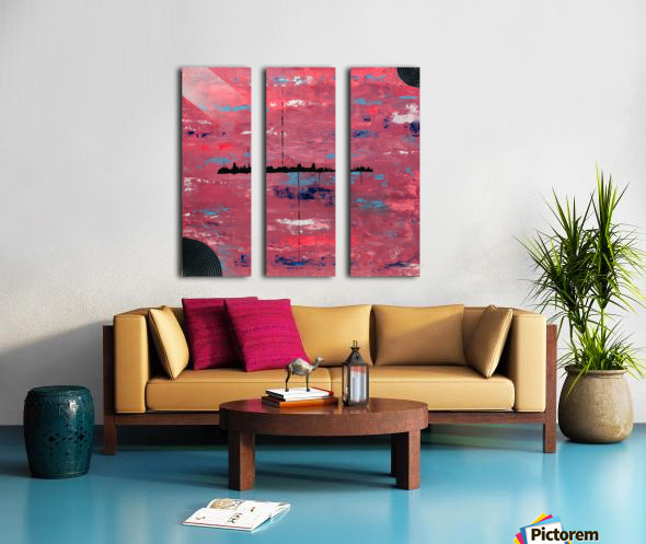 ALIEN LANDSCAPE Split Canvas print