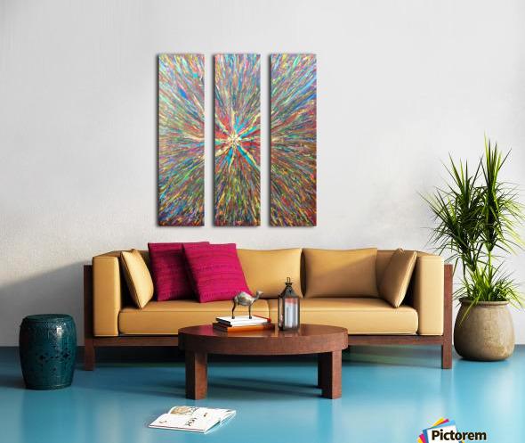Painters World Split Canvas print