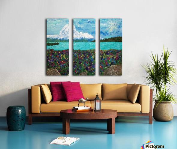 Mount Baker Split Canvas print