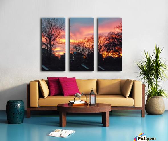 Sunset 2 Split Canvas print
