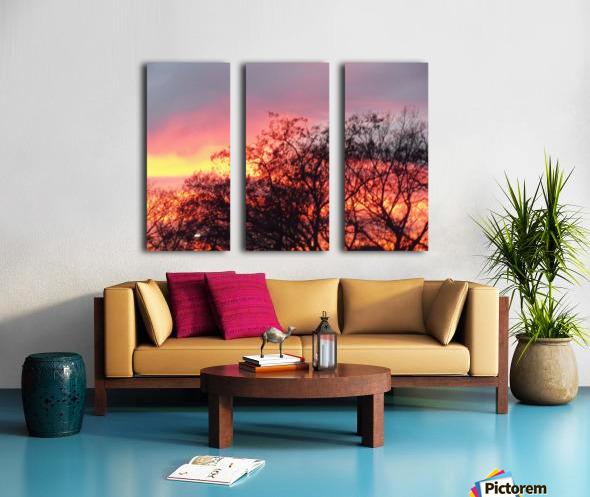 Sunset 3 Split Canvas print
