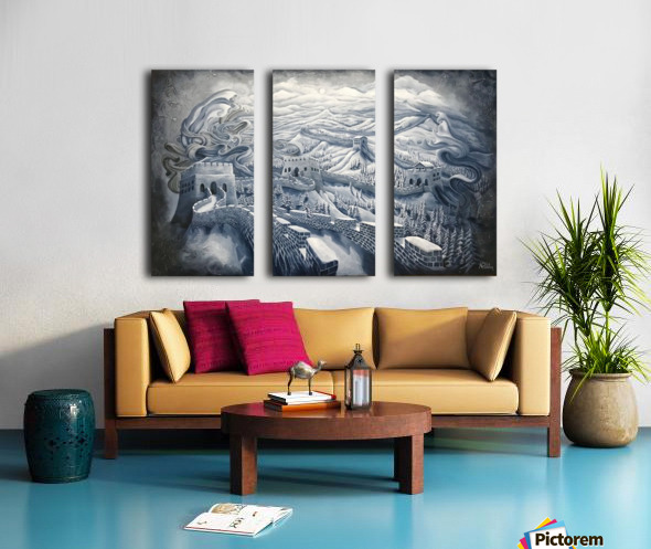 The first season of the Great Wall Split Canvas print