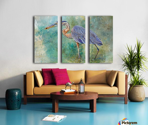 Fishing With Big Blue Split Canvas print