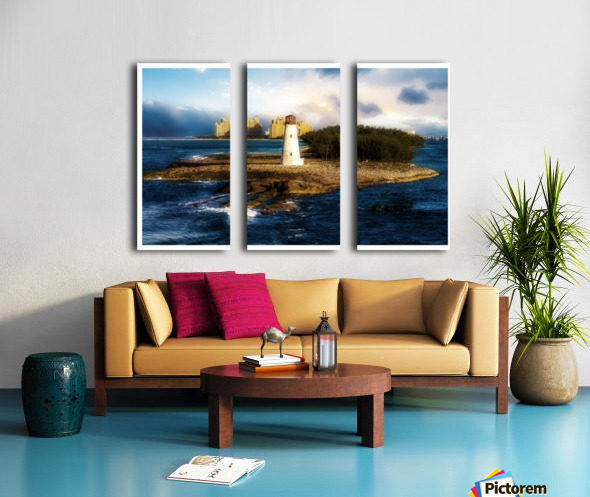 Bahamas Lighthouse with Resort Soft Split Canvas print