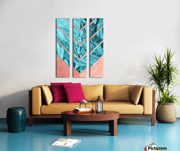Geometric XXXXVI Split Canvas print