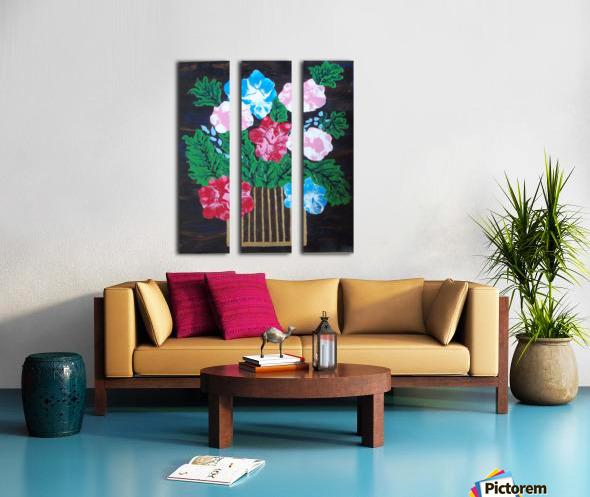 Flowers in box Split Canvas print