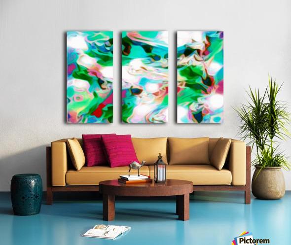 Waterfall - multicolor abstract swirl wall art Split Canvas print
