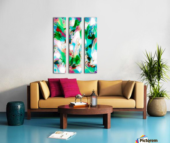 Waterfall vertical - multicolor abstract swirls Split Canvas print