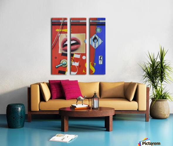 Blue Red Mouth Split Canvas print