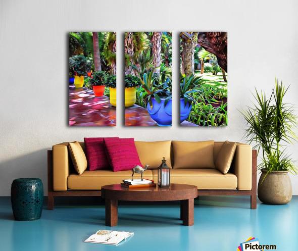 Colorful Plant Pots Marrakech 9 Split Canvas print