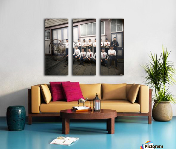 Vancouver hose reel racing team Split Canvas print