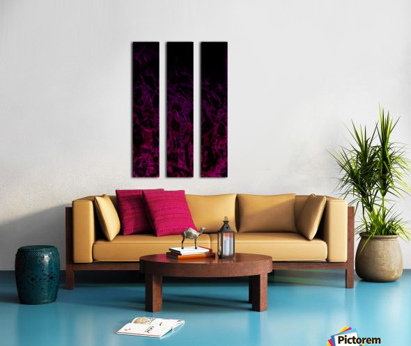 Drowning In Rubies -red hot pink black gradient abstract polygons and swirls Split Canvas print