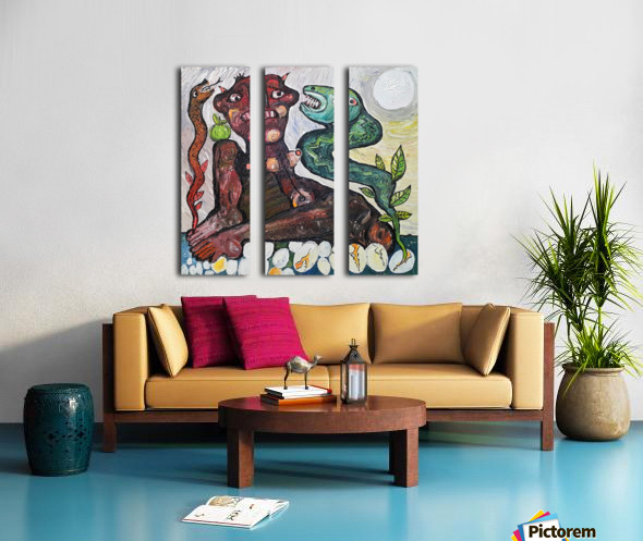 Self Protection Split Canvas print