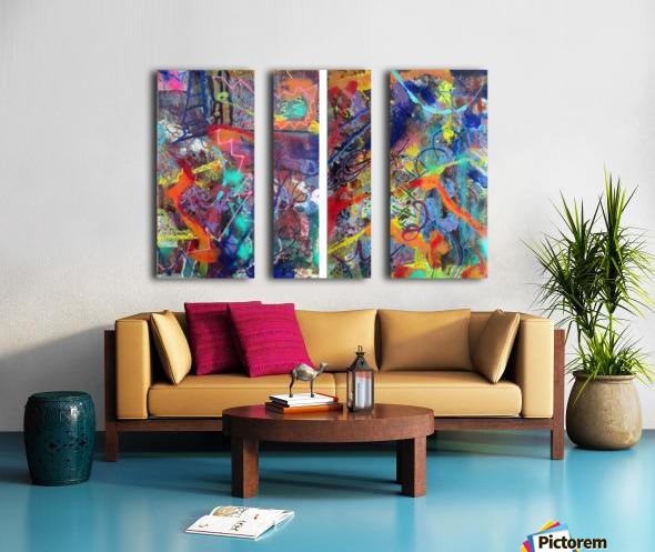 1 2 3 Hospital Ephemere Split Canvas print
