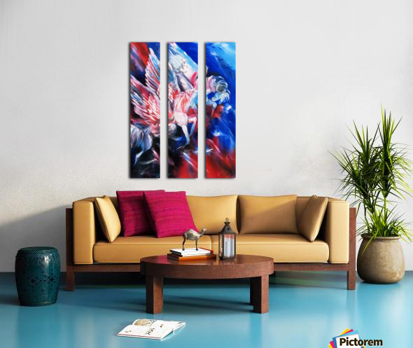 Pegasus Split Canvas print