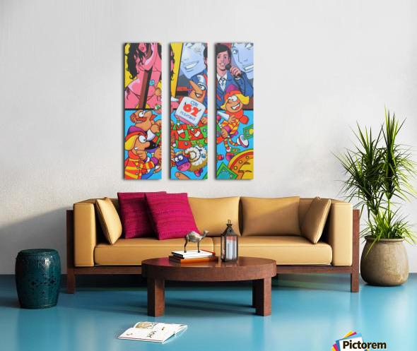 Pegatinas Split Canvas print