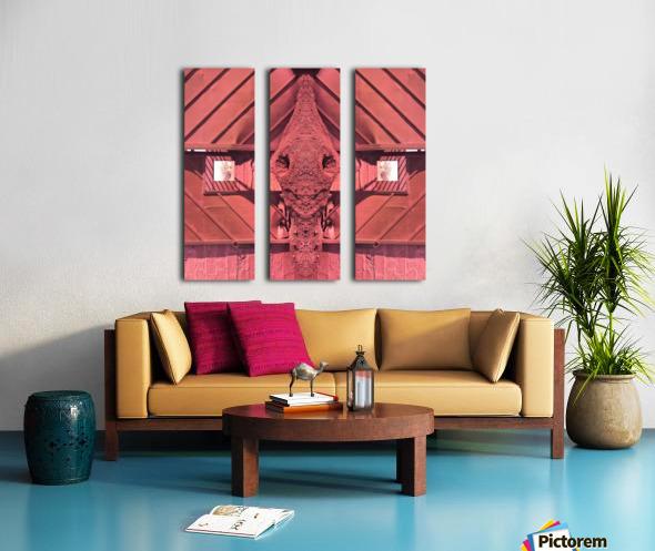 Creature of Red Split Canvas print