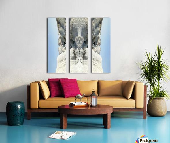 The White Monk Split Canvas print