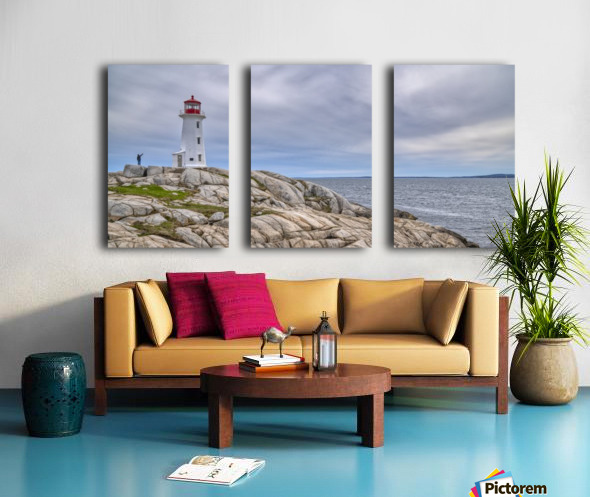 Alone at Peggys Cove. Split Canvas print