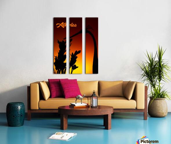 Africa sunrise Split Canvas print