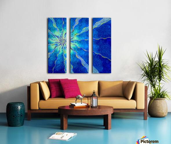 A Blue True Dream of Sky Split Canvas print