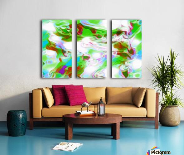 Green Glass Window - multicolor green abstract swirl wall art Split Canvas print