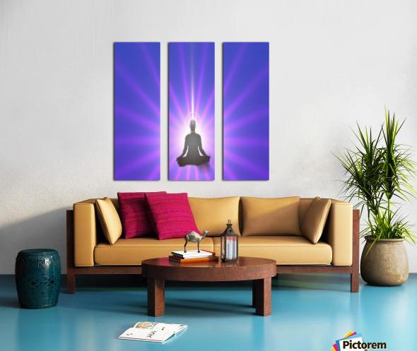 Meditation Art Split Canvas print