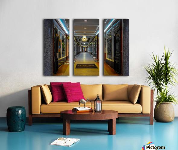 Hallway Split Canvas print
