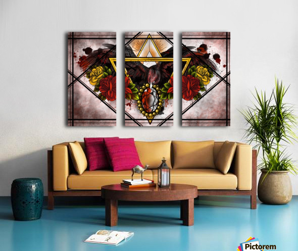 Wings of Gold  Split Canvas print