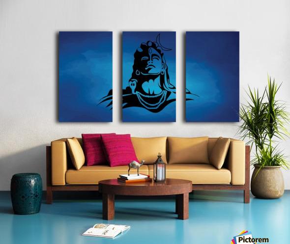 Lord Shiva Split Canvas print