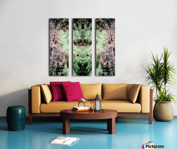 The Child of Green Split Canvas print