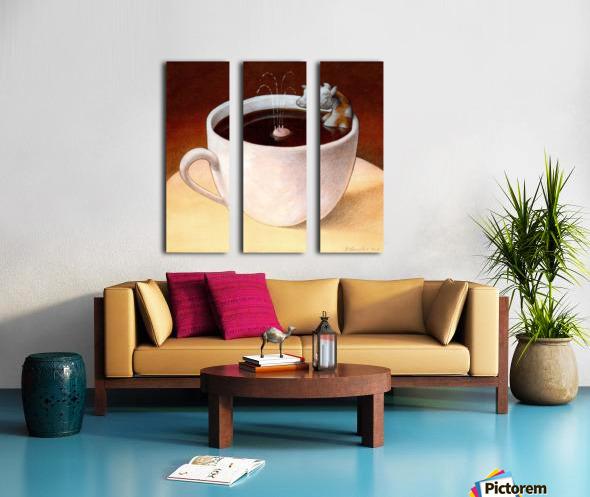 Coffee with milk Split Canvas print