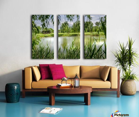 Summer Lake Split Canvas print