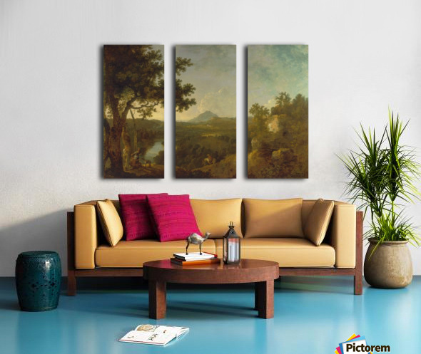 View near Wynnstay Split Canvas print