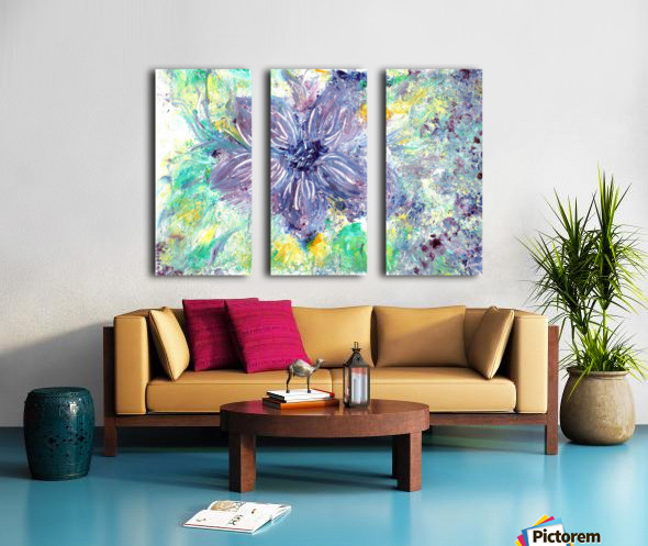 Abstract flower Split Canvas print