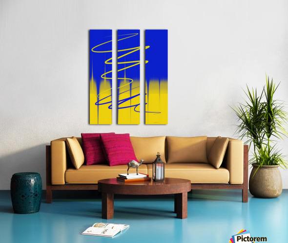 interaction of colors Split Canvas print