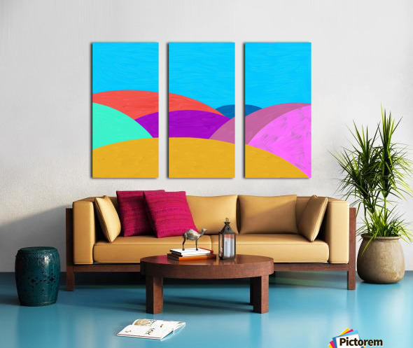 Fabulous hills Split Canvas print