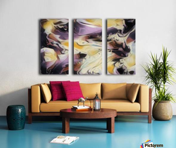 Cosmic - multicolored abstract swirl wall art Split Canvas print