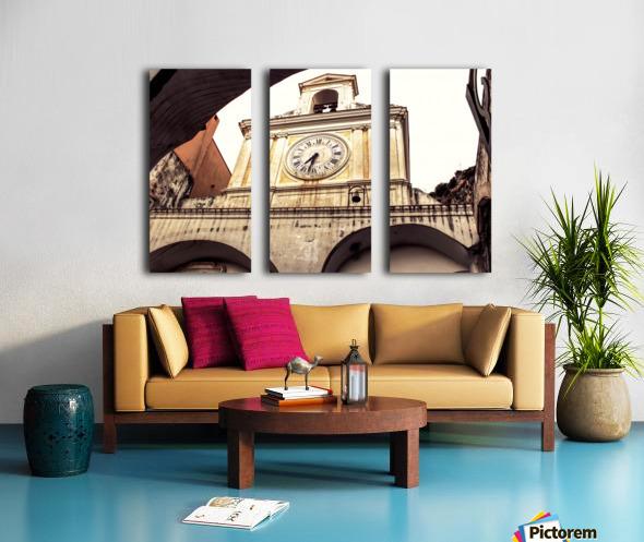 The Church  - Tower Clock Split Canvas print