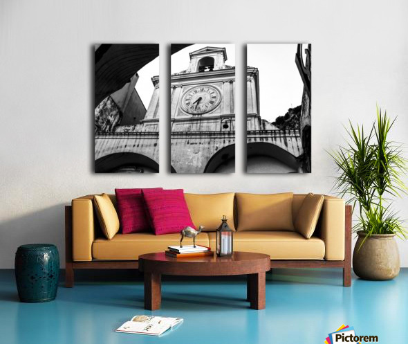 The Church - Ancient Tower Clock Split Canvas print