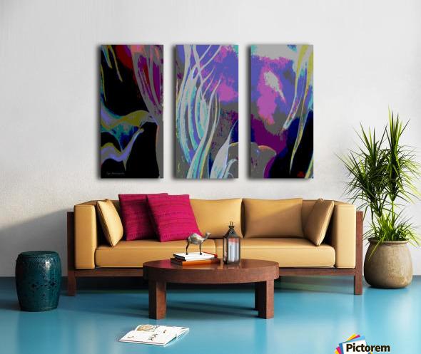 Colorful Melody Waves Split Canvas print
