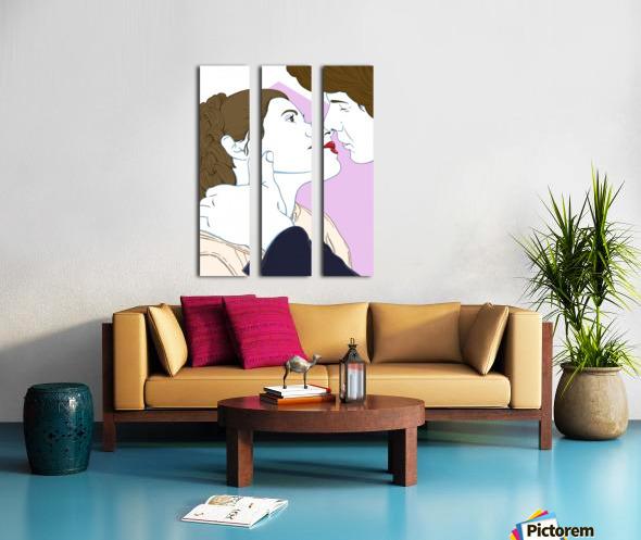 Scoundrel's Kiss Split Canvas print