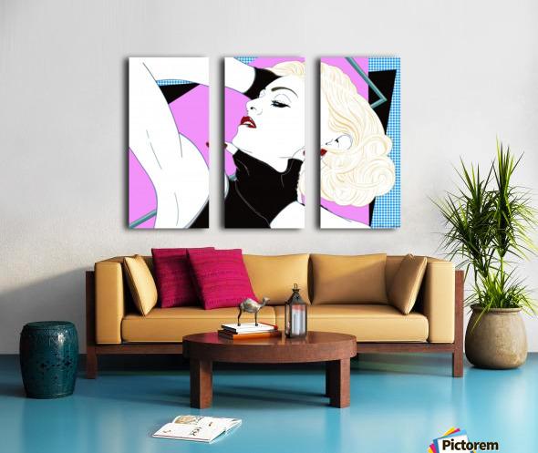 Just Vogue  Split Canvas print