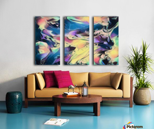 Smooth Brandy - multicolor abstract swirl wall art Split Canvas print