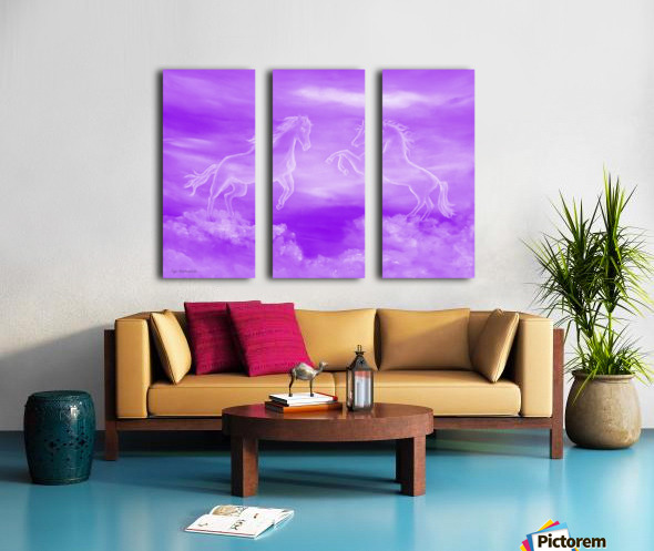 Spirit Horses Split Canvas print