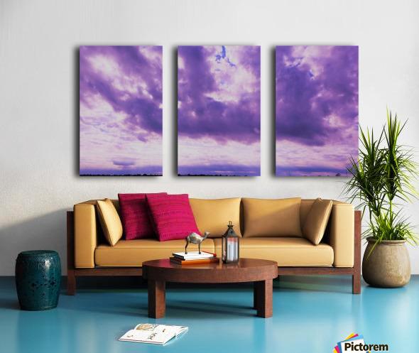 Purple skies Split Canvas print