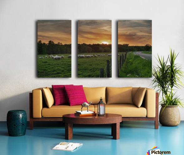 Au soleil couchant  Split Canvas print